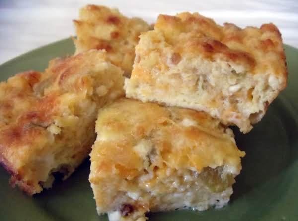 Green Chile Cheese Squares