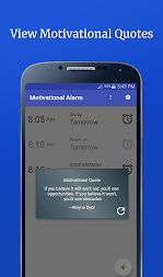 Motivational Alarm Clock - Wake Up Inspired APK screenshot thumbnail 3