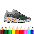 Cool Sneakers Coloring Book | Best Collections