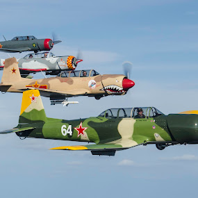Stack 'Em Up by Ron Malec - Transportation Airplanes ( nanchang, rpa, warbirds, redstar )