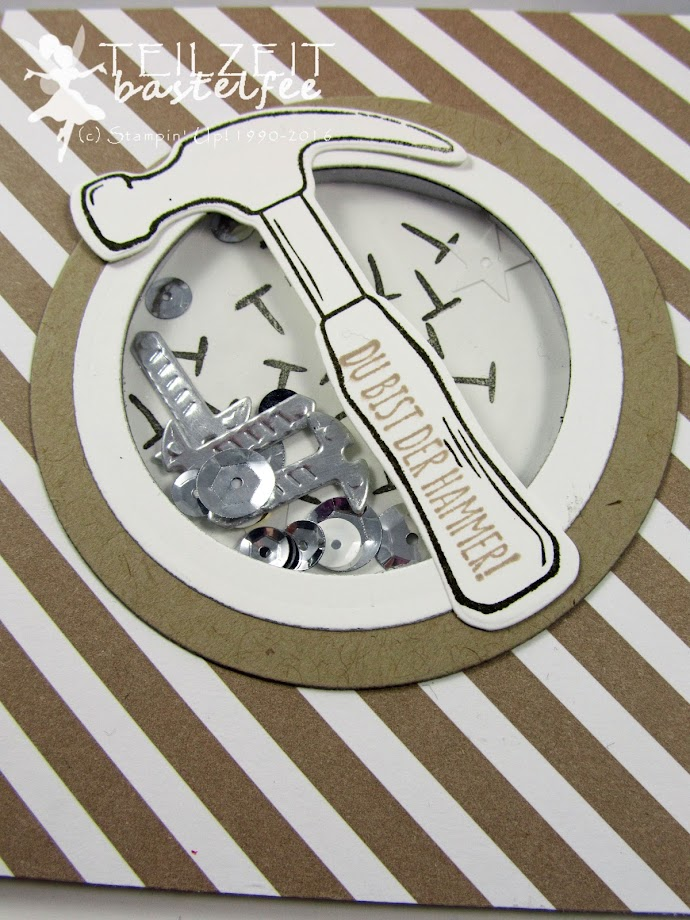 Stampin' Up! – In{k}spire_me #288, Sketch Challenge, Nailed it, Hammer, Framelits Werkzeugkasten, Build It Framelits Dies, Shaker Card, male card, Schüttelkarte, Männerkarte, Geburtstag, Birthday,