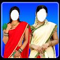 Women half saree icon