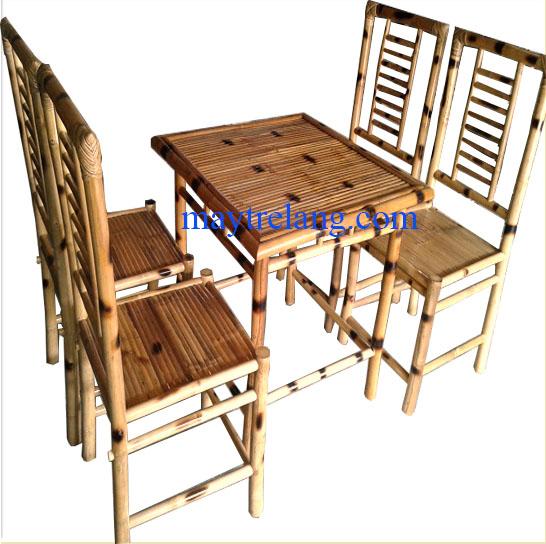 Bàn ghế tre quán ăn