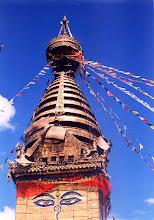 Photo: Katmandu - stupa w Swayambunath