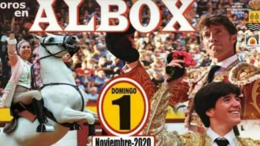Cartel del festejo taurino que estaba programado para el 1 de noviembre.