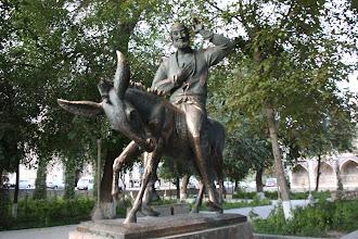 Photo: Day 164 -  Statue in Lyabi-Hauz in Bukhara