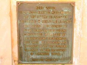 Photo: English inscription