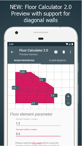 Floor Calculator: Plan & install flooring Apk 1