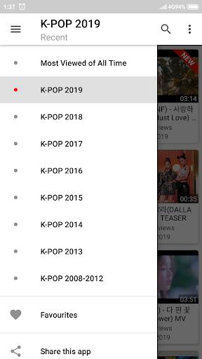 K-POP Tube - Popular & Recent 1.0.22 screenshots 2