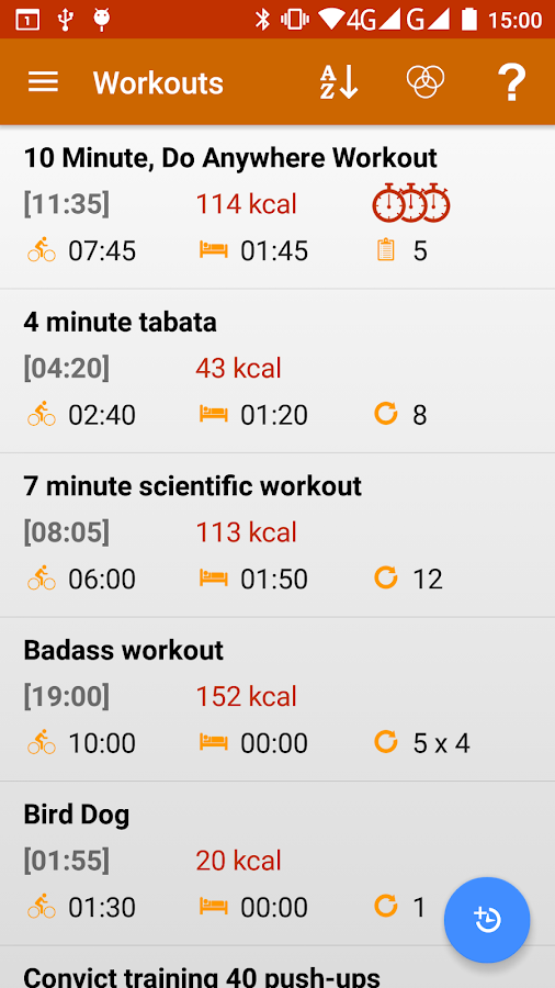 Interval Timer 4 HIIT Workout+- screenshot