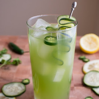Spicy Cucumber Cocktail.