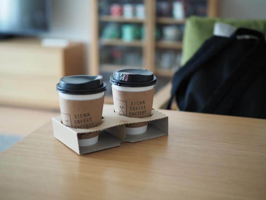 シエナコーヒーのテイクアウトコーヒー