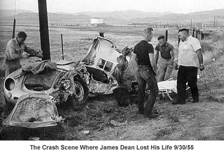 The James Dean crash scene.