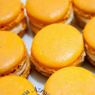 Orange French Macarons With Orange or Pumpkin Spice Buttercream.