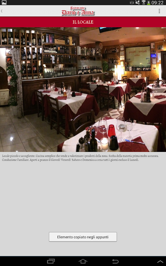 Dario and Anna Restaurant- screenshot