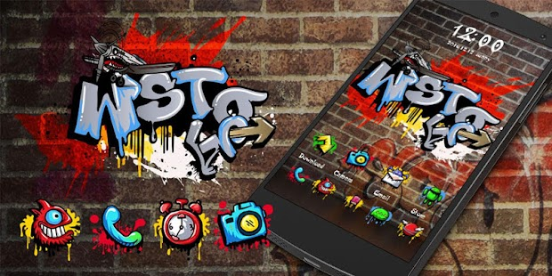 Graffiti GO Launcher Theme- screenshot thumbnail