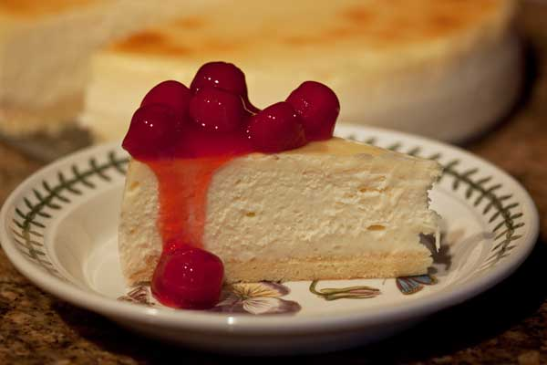 Junior's Cherry Cheesecake.