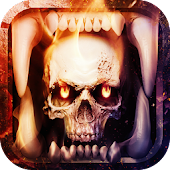 Skull Theme: Skeleton Hellfire wallpaper HD