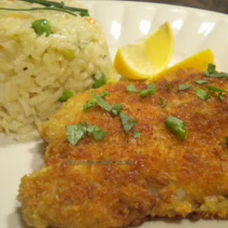 Pork Schnitzel and Vegetable Rice Pilaf