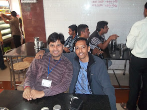 Photo: Lalit and I waiting for the breakfast