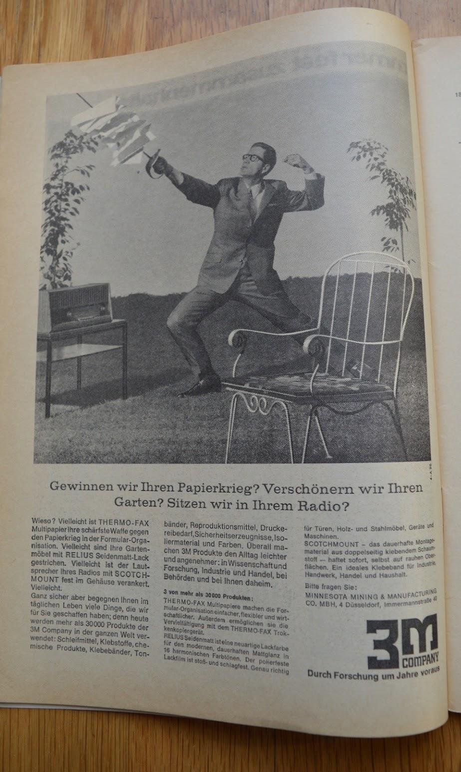 DER SPIEGEL, 29. April 1964 - Werbung für 3M