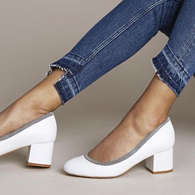 Low block heels