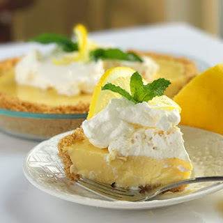 Sweet and Zesty Lemon Icebox Pie.