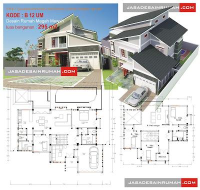 desain rumah megah mewah @ jasa desain rumah