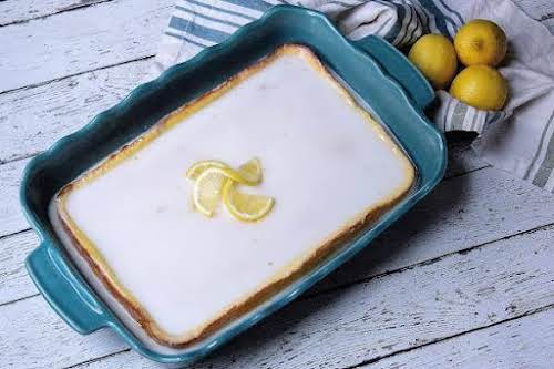 "Ice Box Lemon Drop Cake""My grandmother made a delicious, moist lemon cake..."