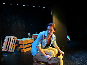 Photo: Monica Wyche in The Salvage Company's production of Whales & Souls by Andrew Kramer at The Flea Theatre, TriBeCa, NYC. Directed by Chris Roe, Lighting Design by Marciel Irene Greene, Set Design by Liz Blessing.