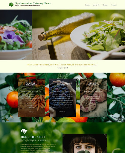 Build a Restaurant or Catering Website