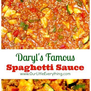 Daryl's Famous Spaghetti Sauce.