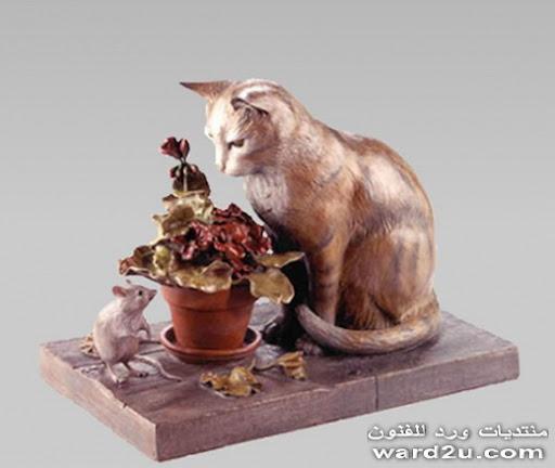 حيوانات من برونز في منحوتات السيرياليه  Kim Corey