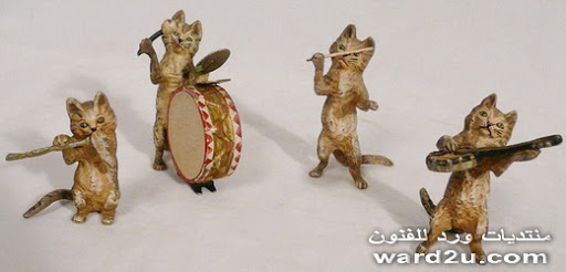 تماثيل اثريه حيوانات من برونز وخزف