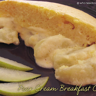 Pear Cream Breakfast Cake