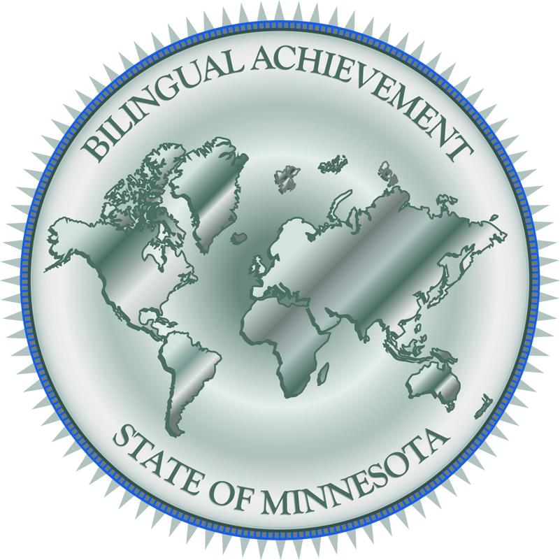 Platinum Bilingual Achievement Seal
