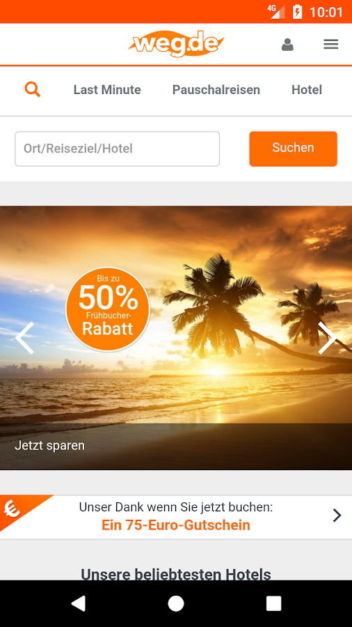 weg.de App- screenshot