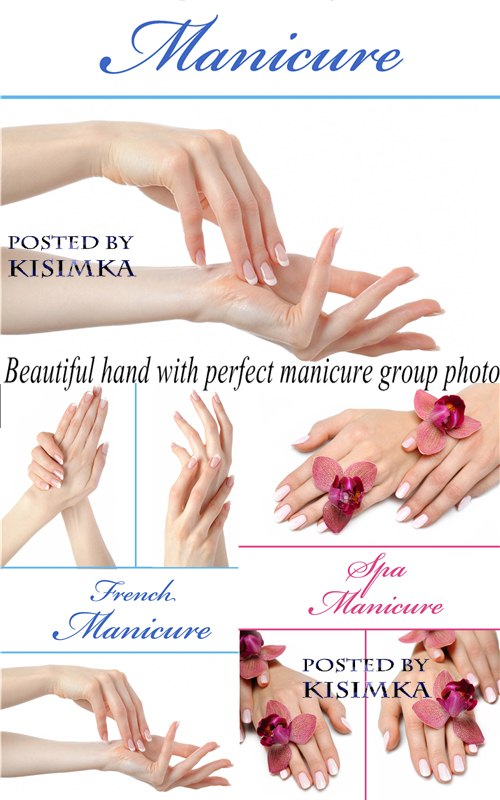 Stock Photo: Beautiful hand with perfect manicure group photo