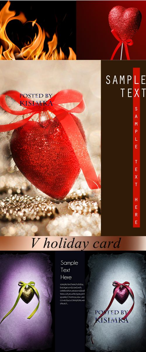 Stock Photo: V holiday card
