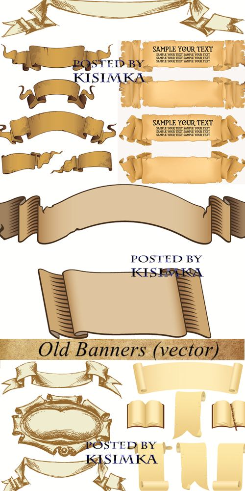 Stock: Old Banners (vector)
