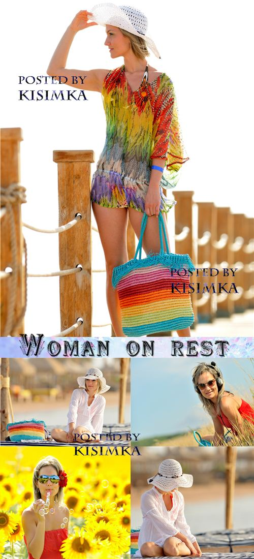 Stock Photo: Woman on rest