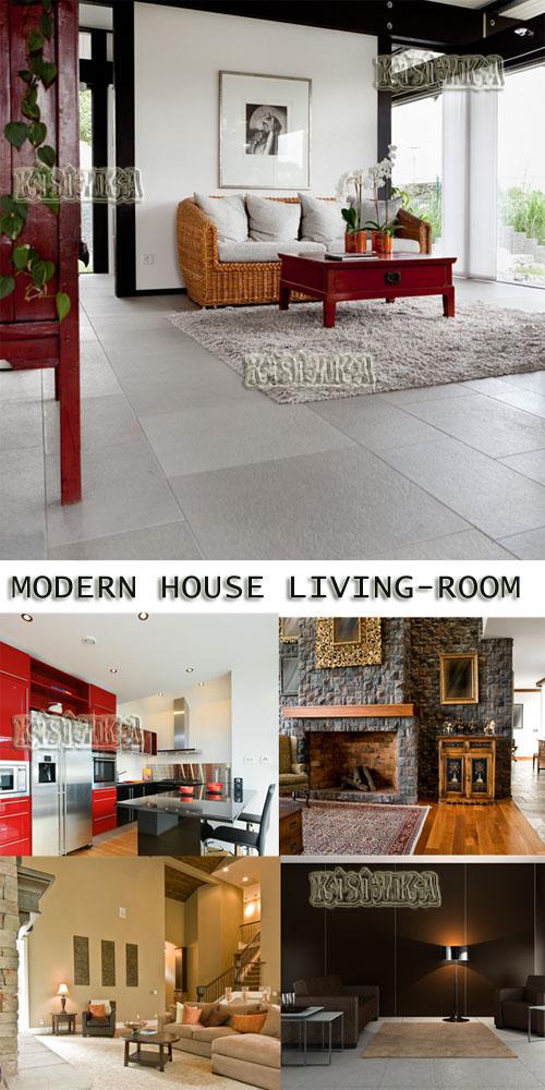Stock Photo: Modern house, living-room