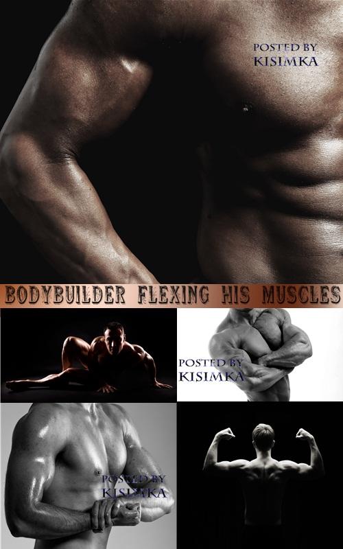 Stock Photo: Bodybuilder flexing his muscles