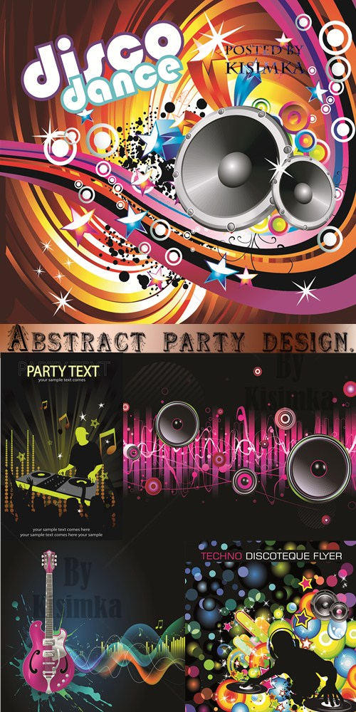 Stock: Abstract party design. Vector illustration