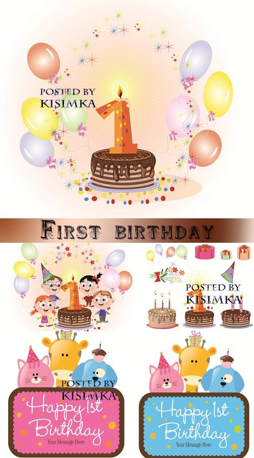 Stock: First birthday