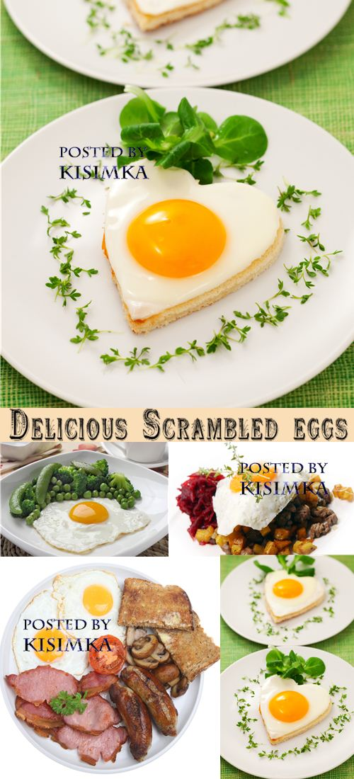 Stock Photo: Delicious Scrambled eggs
