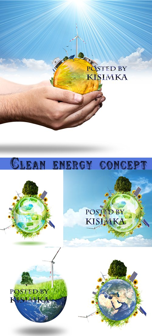 Stock Photo: Clean energy concept