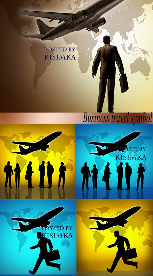 Stock Photo: Business travel symbol