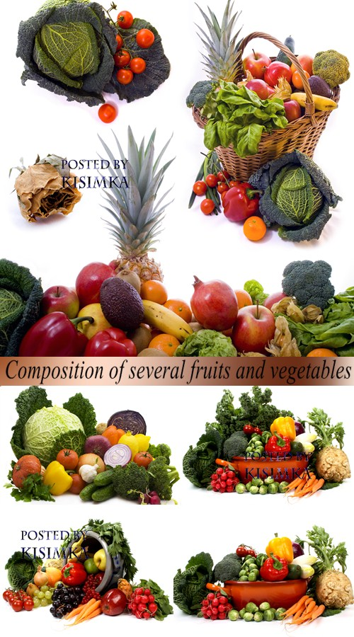 Stock Photo: Composition of several fruits and vegetables