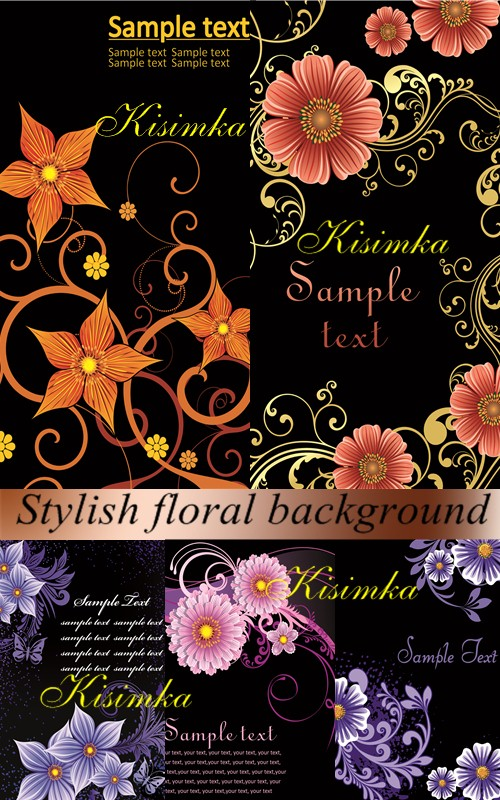 Stock: Stylish floral background